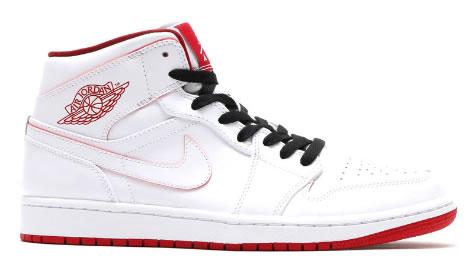 "Air Jordan 1 Mid ""White Red"""