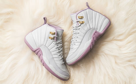 "Girl's Air Jordan 12 ""Plum Fog"""