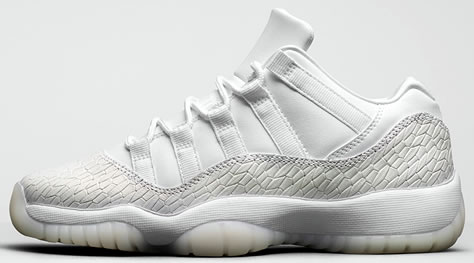 "Girl's Air Jordan 11 Low Retro ""Frost White"""